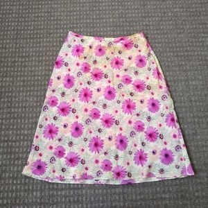 LOFT Floral Midi Skirt